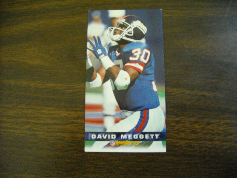 David Meggett New York Giants Card No. 295 - Game Day '94 Fleer Football Card