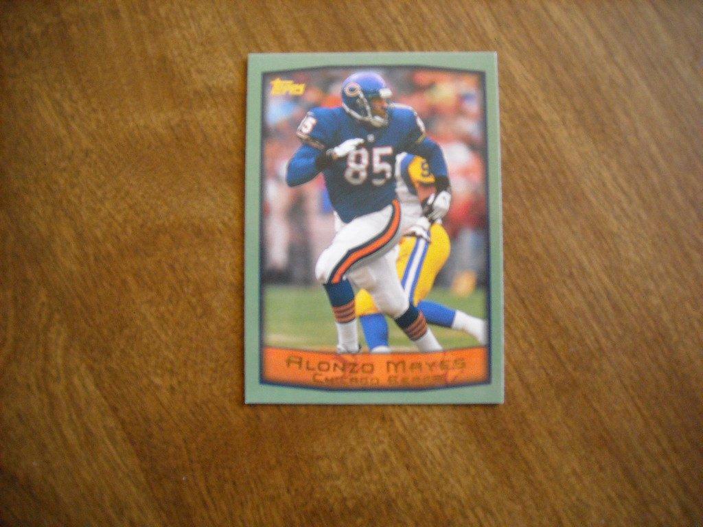 Alonzo Mayes Chicago Bears TE Card No. 224 - 1999 Topps Football Card