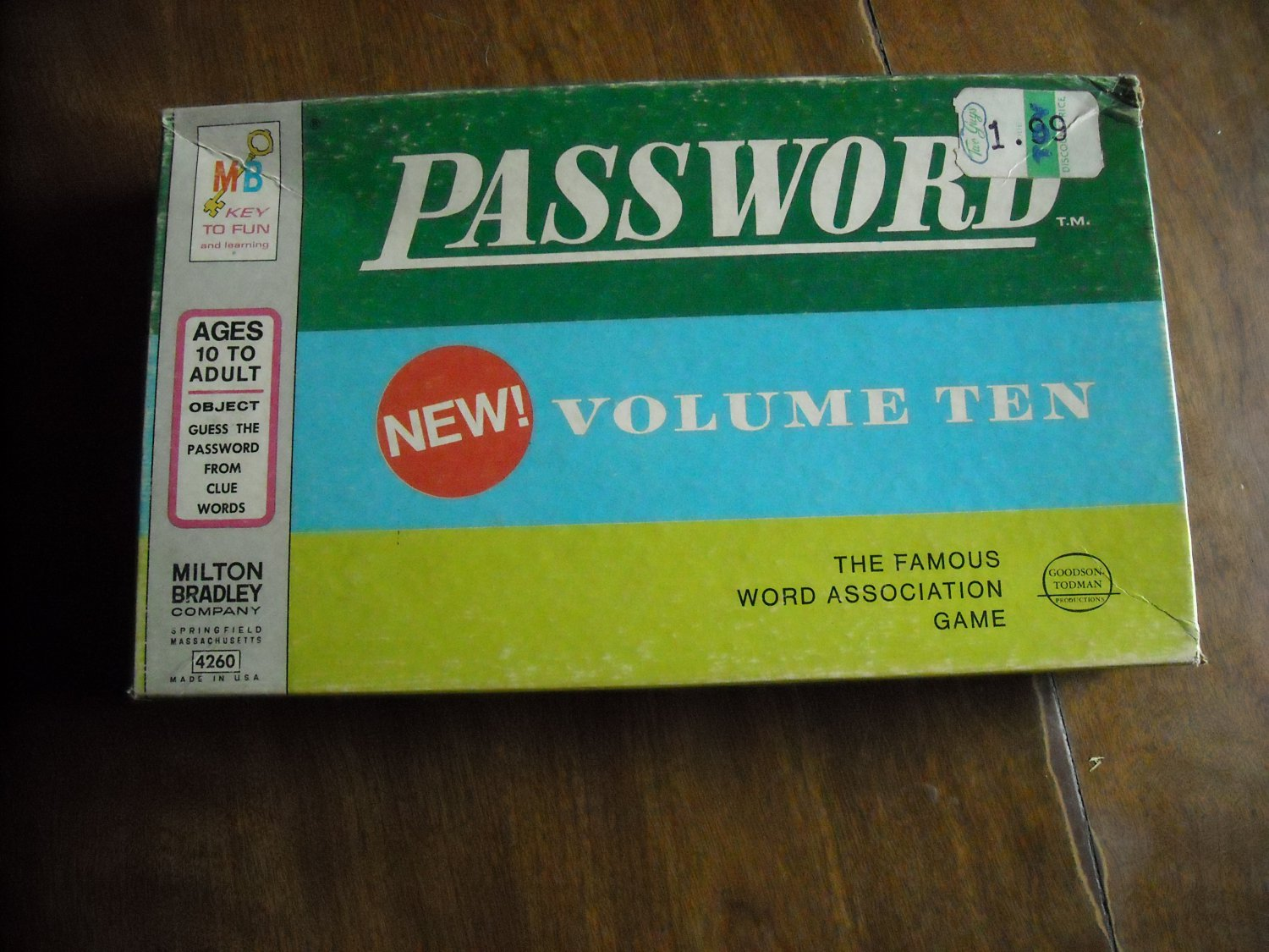 Password Volume Ten Game by Milton Bradley (1962) Word Association Game