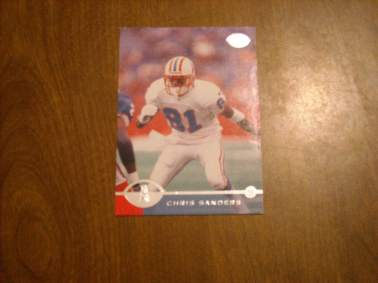 Chris Sanders Houston Oilers WR Card No. 121 - 1996 Donruss Leaf Football Card