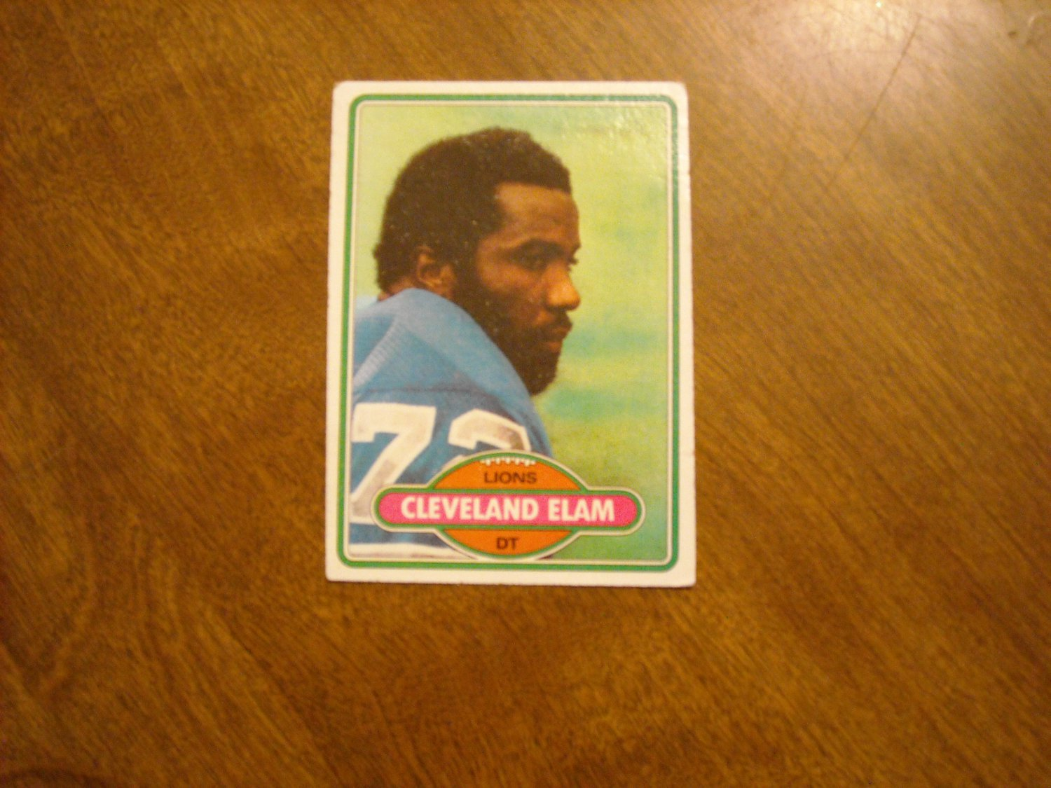 Cleveland Elam Detroit Lions DT Card No. 27 - 1980 Topps Football Card
