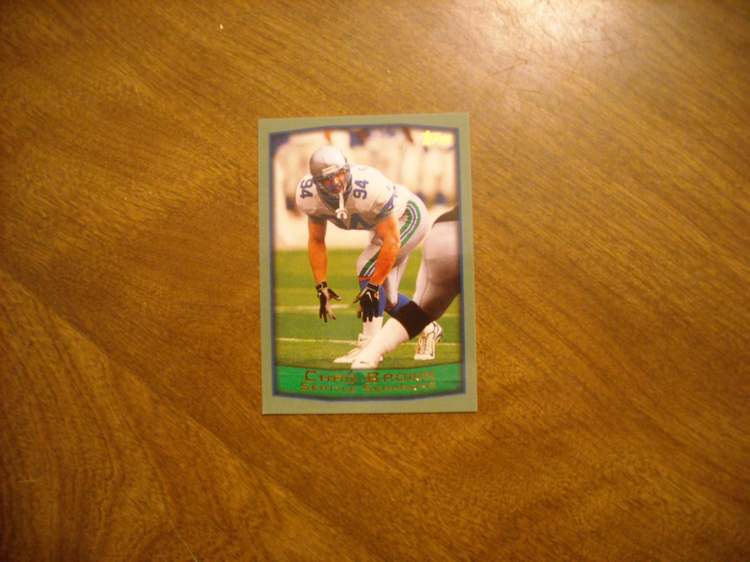 Chad Brown Seattle Seahawks OLB Card No. 255 - 1999 Topps Football Card