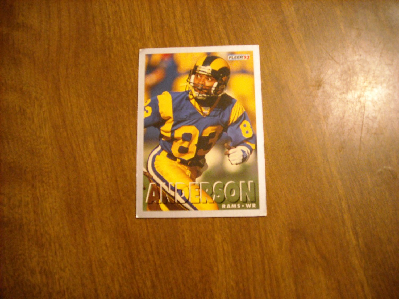 Willie Anderson Los Angeles Rams WR Card No. 454 - 1993 Fleer Football Card