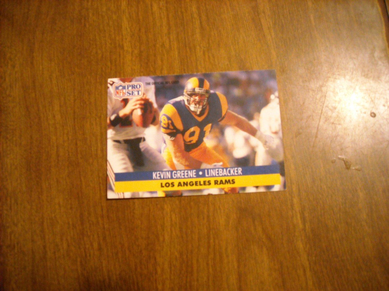 Kevin Greene Los Angeles Rams LB Card No. 202 - 1991 NFL Pro Set Football Card
