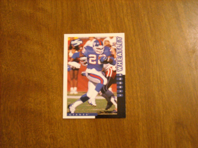 Tyrone Wheatley New York Giants RB Card No. 69 - 1998 Pinnacle Score Football Card