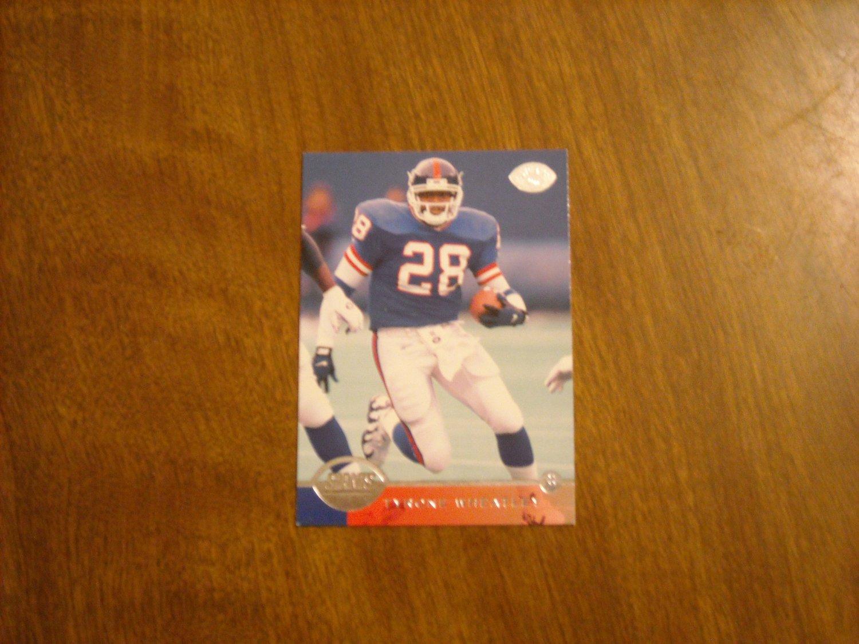 Tyrone Wheatley New York Giants RB Card No. 108 - 1996 Donruss Leaf Football Card