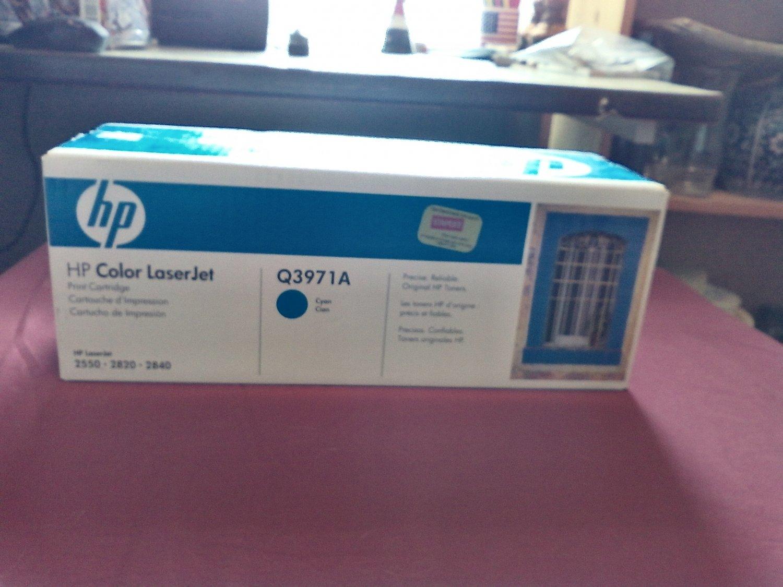 HP Color LaserJet Q3971A Cyan Print Cartridge NIP Hewlett Packard (SG)