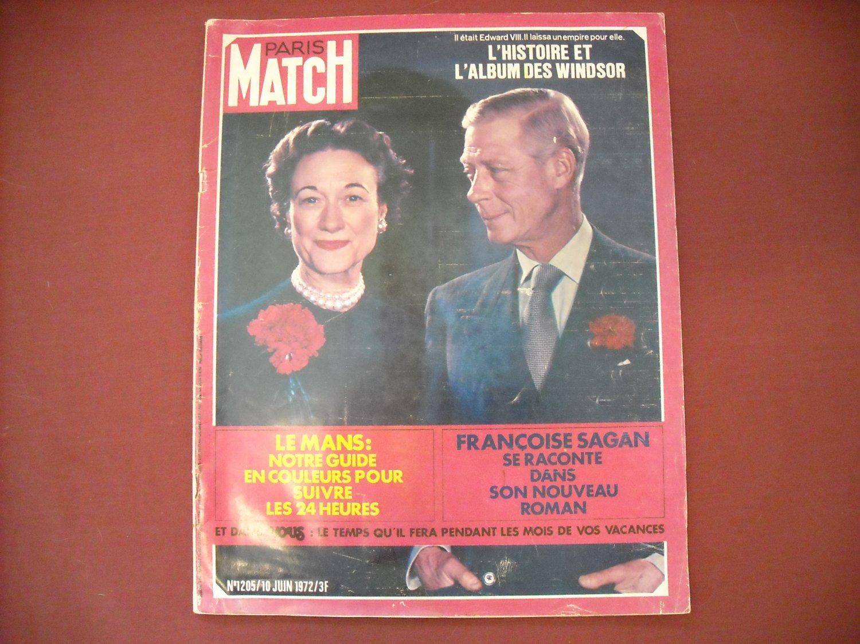 Paris Match # 1205 10 Juin 1972 French Magazine- Windsor / Edward VIII (G1)