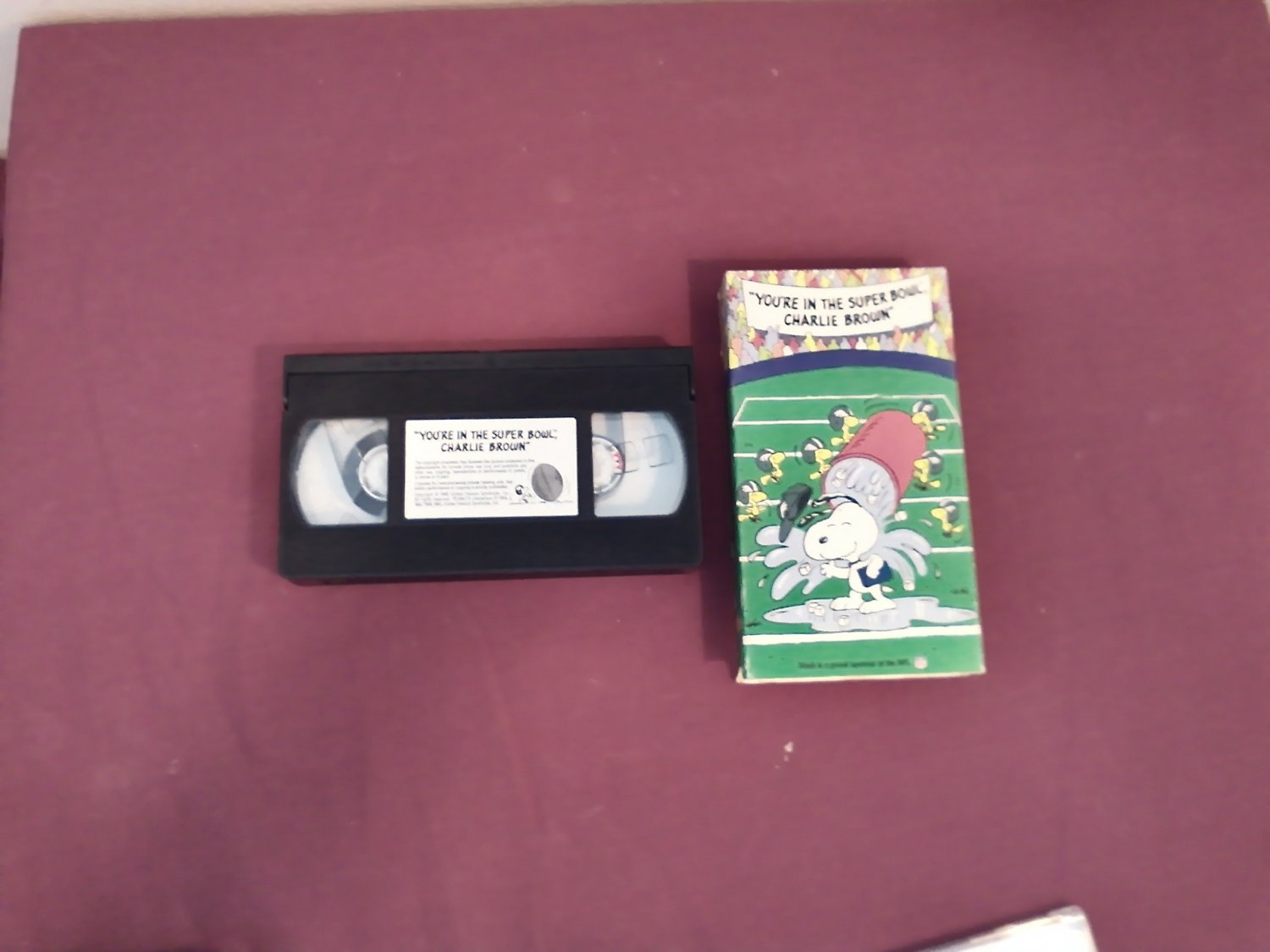 You're in the Super Bowl Charlie Brown VHS (1993)