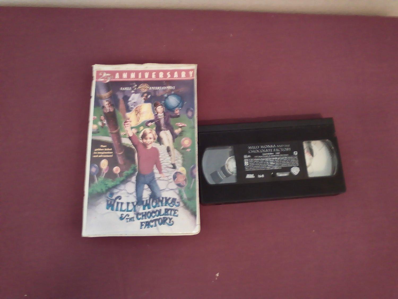 Willy Wonka and the Chocolate Factory 25th Anniversary Gene Wilder / Peter Ostrum (1996) Warner VHS