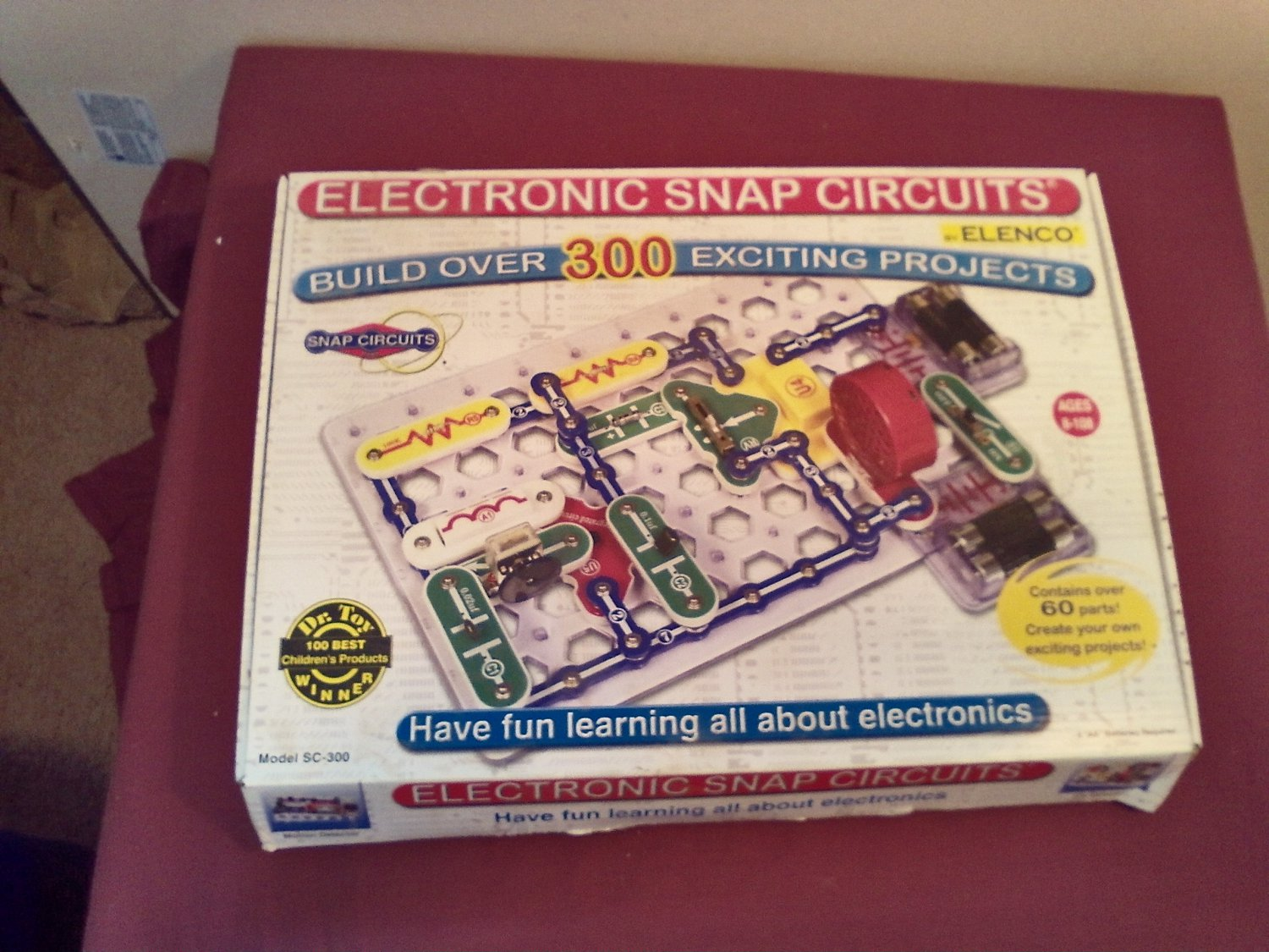 Electronic Snap Circuits 300 Experiments Sc Electricity Science Elenco Electronics Electrical Project Kid Educational Kit Toy By Mw