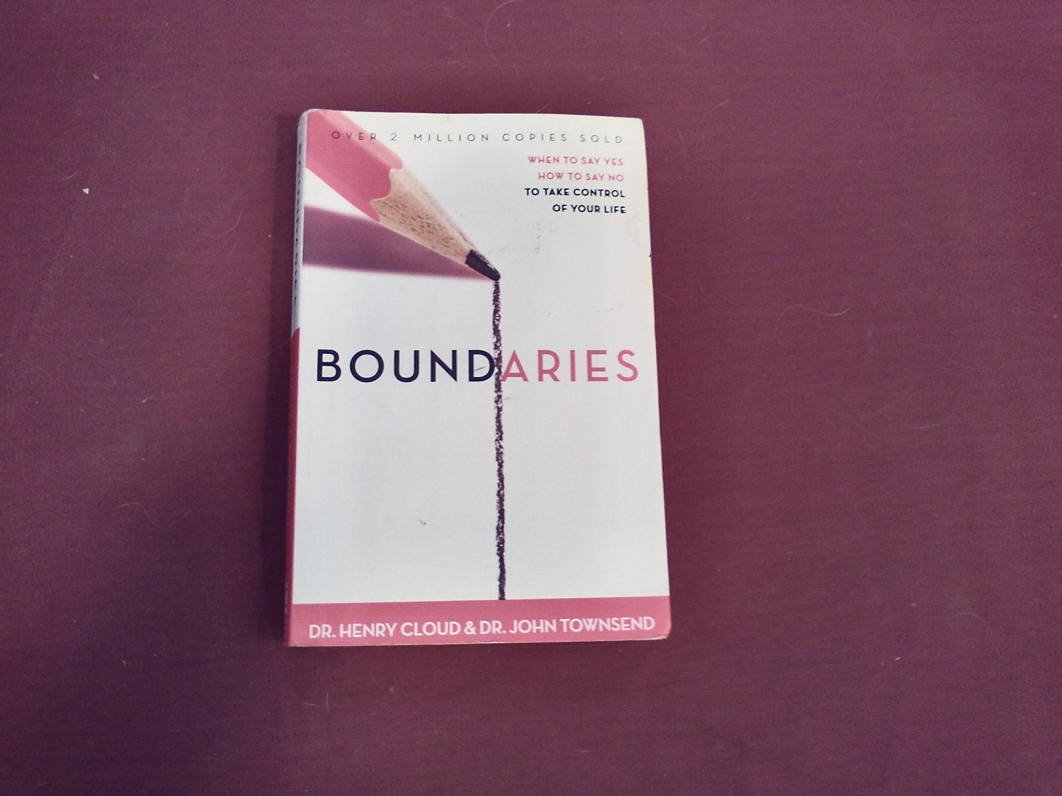 Boundaries: When to Say Yes, How to Say No, to Take Control of Your Life Dr. Henry Cloud