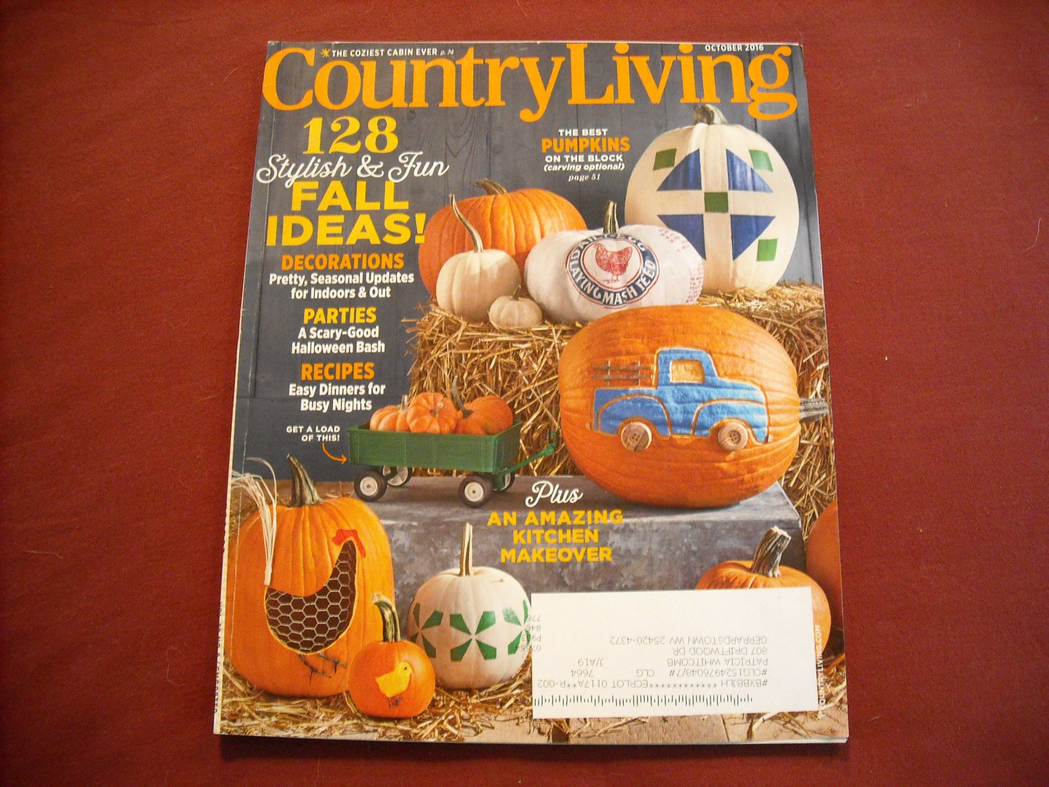 Country Living October 2016 Vol 39 No 8 Stylish & Fun Ideas for Fall (G1)