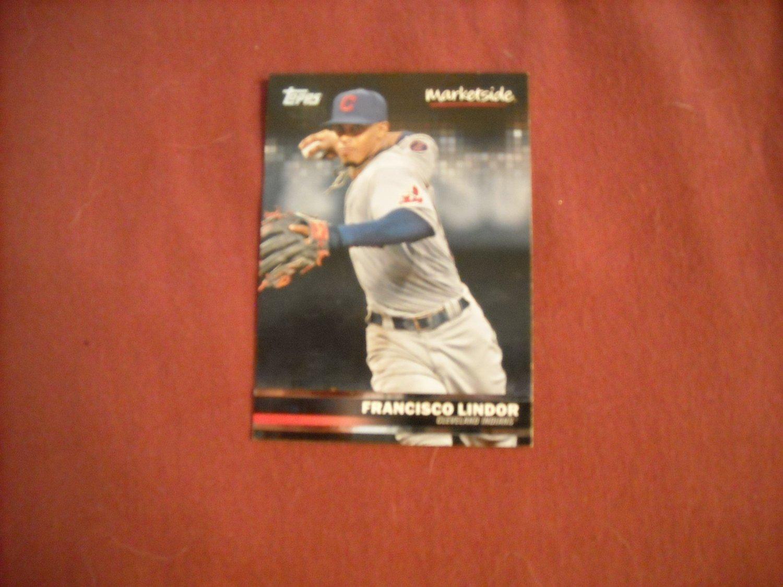 Francisco Lindor Cleveland Indians Marketside Card No. 18 - Topps 2016 Baseball Card