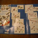K'Nex Instruction Idea Sheet - KNex - Race Car, Airplane, Bicycle, Camera and Dinosaur (mw)