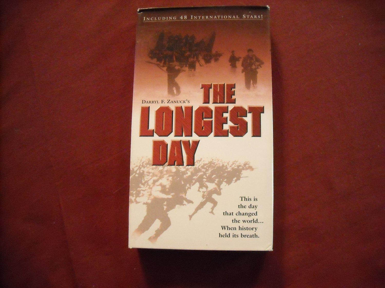 The Longest Day VHS (1962 1990) John Wayne, Robert Mitchum, Henry Fonda Rated G