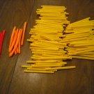 "KNEX Assorted Rods 3 7/36""  3.4375 in.- 163 pieces - 8 Neon Orange, 8 Neon Pink, 147 Yellow"