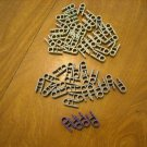 KNEX Clip with Hole end Dark Grey (21 pc), Light Gray (33 pc) and Purple (4 pc) - 58 pieces