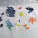 KNEX 100 Assorted Replacement Pieces Connectors Adapters and Clips