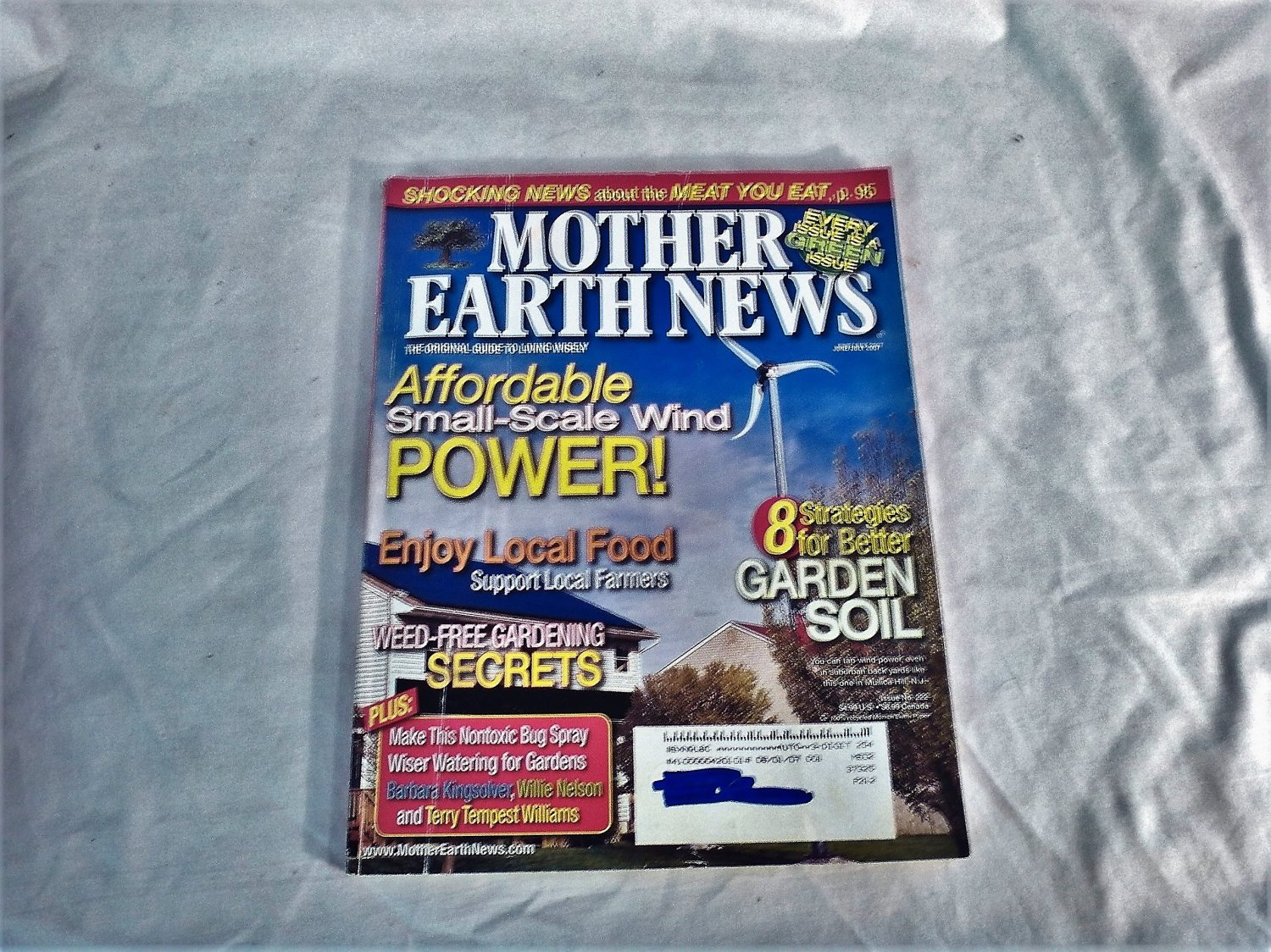 Mother Earth News Affordable Small Scale Wind Power June / July 2007 Issue 222 (G2)