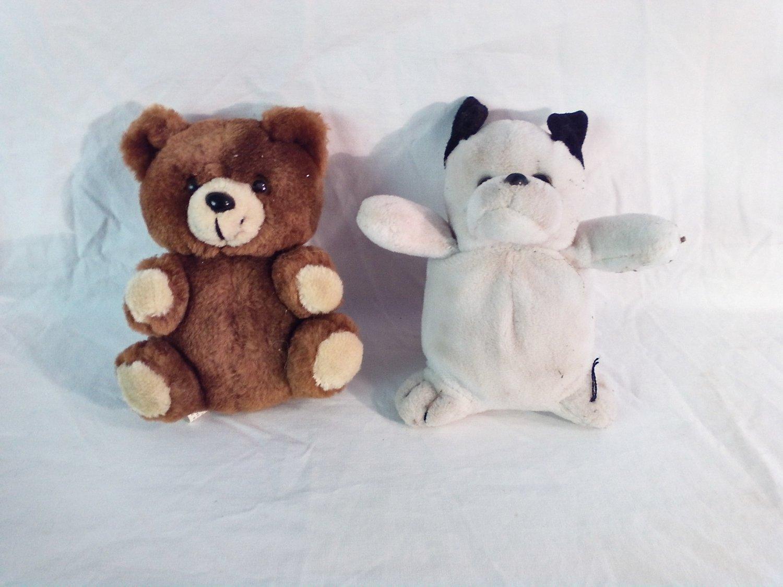 White Plush Bear Lee's Babies and Brown Plush Bear TPI Distributing (GTB1)