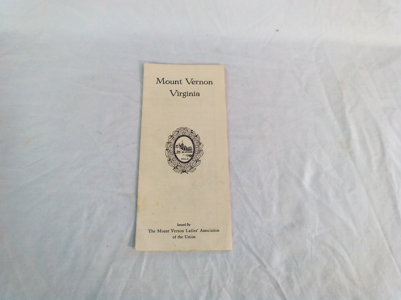 Mount Vernon Virginia Ladies Association / MVLA of the Union Map 1MM-7-69 Map of Mount Vernon
