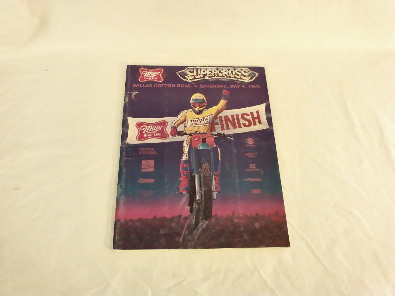 Supercross Dallas Cotton Bowl May 1985 Souvenir Program Motorsports AMA
