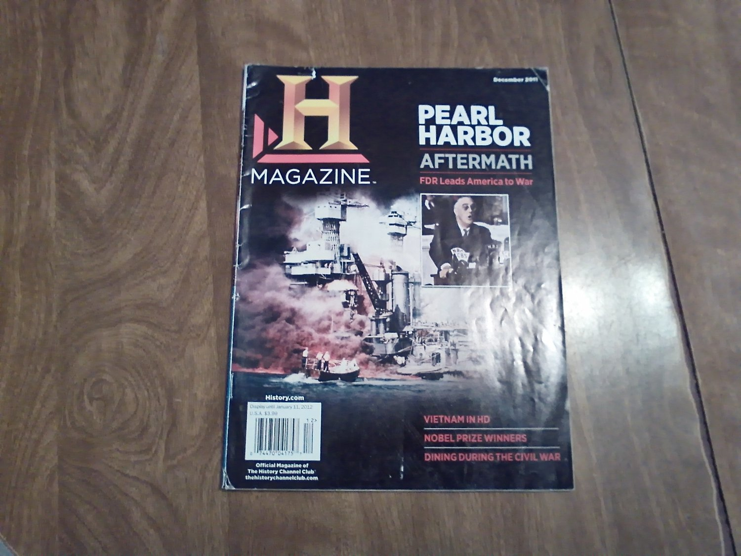 History Channel Magazine December 2011 Pearl Harbor Aftermath FDR America War Vol. 9 No. 6 (G4)