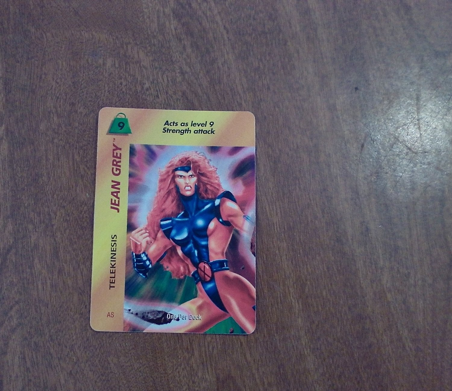 Marvel OverPower - Jean Grey - Telekinesis No. 132 AS S9 Common, Special Character Card (1995) Fleer