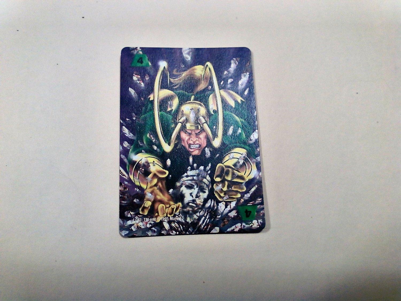 Marvel OverPower - Loki No. 300 - F4 Common, Power Card (1995) Fleer
