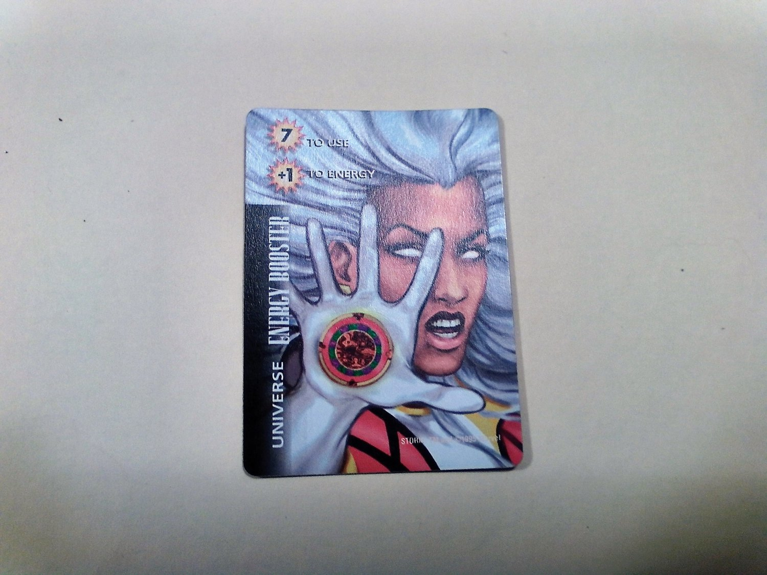 Marvel OverPower - Storm Energy Booster No. 313 Common, Universe Card (1995) Fleer