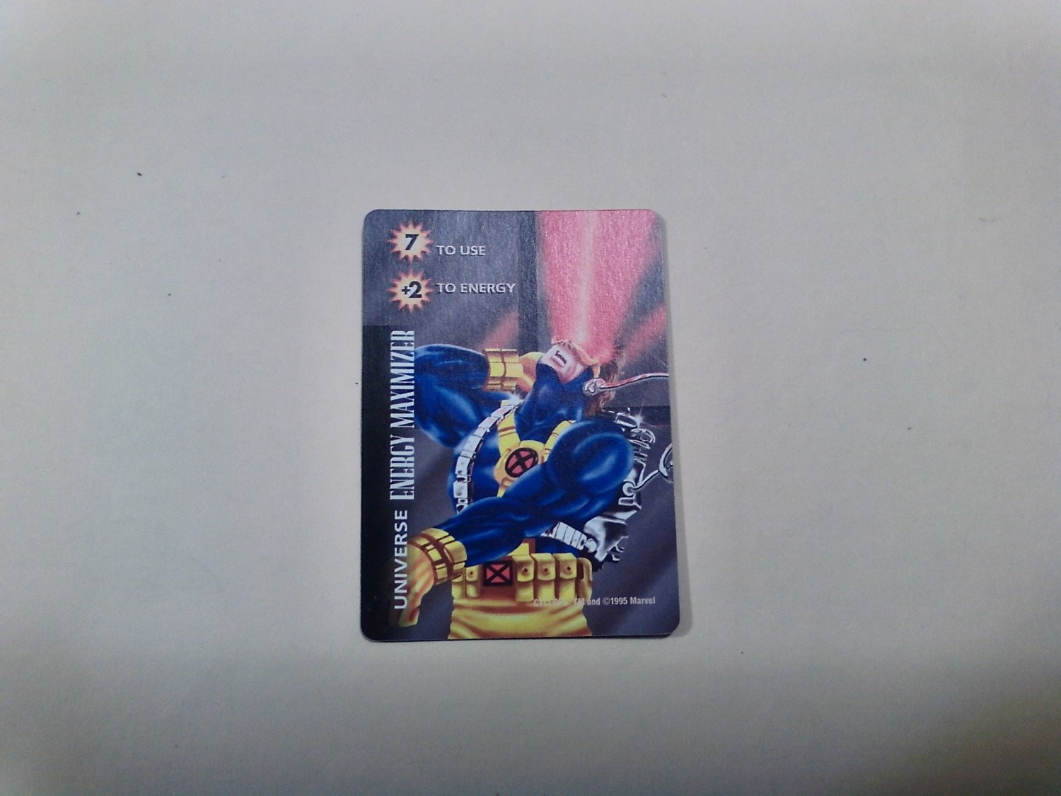 Marvel OverPower - Cyclops Energy Maximizer No. 315 Common, Universe Card (1995) Fleer