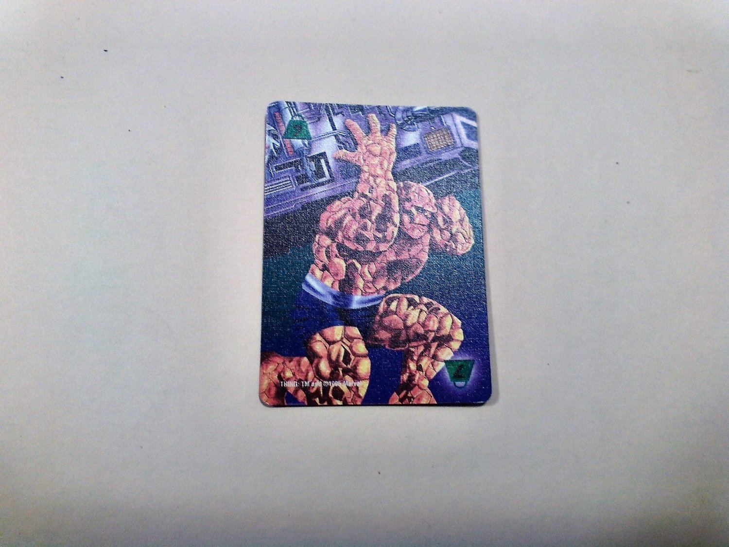 Marvel OverPower - Thing No. 303 - S7 Common, Power Card (1995) Fleer
