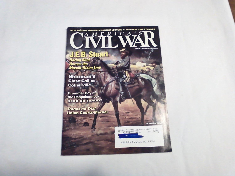America's Civil War Magazine January 2004 Vol 16 No 2 J.E.B. Stuart Raid Mason-Dixon Line (G4)