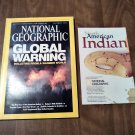 National Geographic September 2004 Vol. 206 No. 3 American Indians, Global Climate, Badgers (B1)