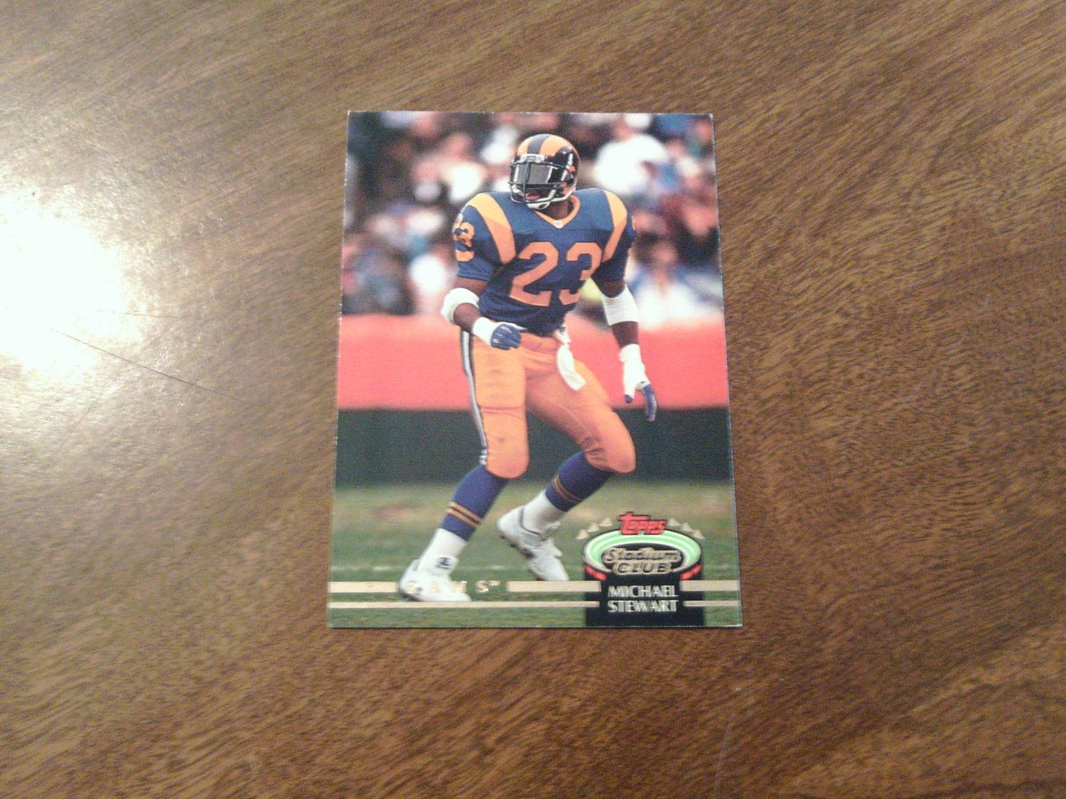Michael stewart los angeles rams 221 1992 topps stadium for Michaels crafts los angeles