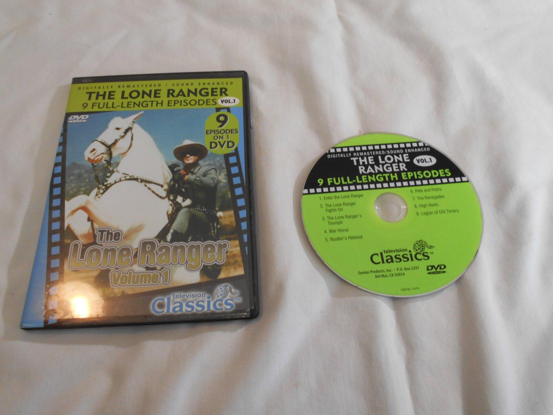 The Lone Ranger Volume 1 (DVD, 2005) Clayton Moore, Jay Silverheels, 9 episodes