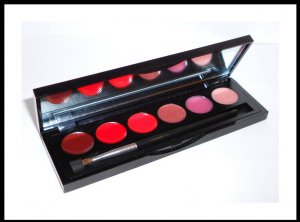 SHEER COVER Berry Lip Gloss Collection Palette~Comes with 6 lip shades NEW and Factory Sealed