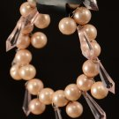 Image Fawn & Clear Drop Beaded Bracelet