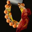 Image Orange & Yellow Clear Bracelet