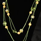 Image Lime Green & Acrylic Necklace