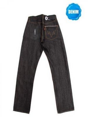 HED106 Unwashed Selvedge Denim with Stingray Skin