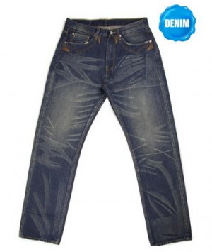 HED 555A Washed Selvedge Denim (Special Pocket Stitches)