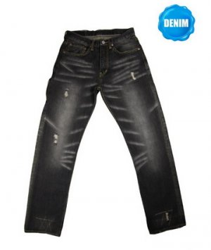 HED 777 Washed Selvedge Black Denim