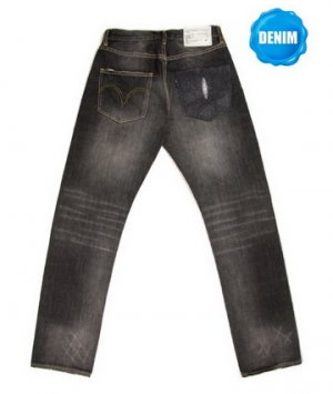 HED806 Washed Selvedge Denim with Stingray Skin