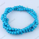 4MM BLUE TURQUOISE HOWLITE ROUND BALL LOOSE BEADS FINDINGS