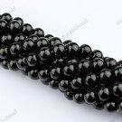 6MM BLACK AGATE ONYX GEMSTONE ROUND BALL LOOSE BEADS FINDINGS 1 STRAND