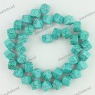 8MM WEINS TURQUOISE HOWLITE SQUARE LOOSE BEADS FINDINGS STRAND
