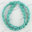 12MM VEINS TURQUOISE HOWLITE COIN LOOSE BEADS FINDINGS STRAND
