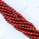 4MM RED AGATE CARNELIAN GEMSTONE ROUND BALL LOOSE BEADS FINDINGS STRAND